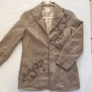 Cold water Creek Linen blazer